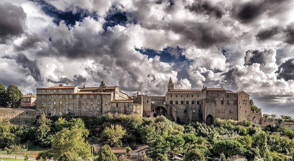 Medieval Viterbo castle Italy