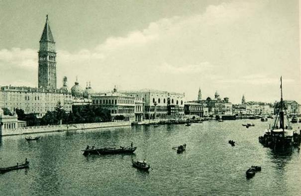 The Grand Canal Venice, vintage photo 1902
