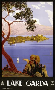 Lake Garda (Lago di Garda), Vintage Travel Poster Italy 1924