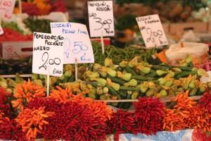 Venice food market, Italy