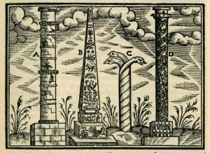 Serpent Column, Τρικάρηνος Όφις, Salomon Schweigger (1608)