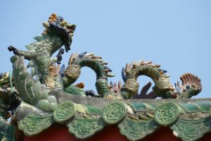 Chinese dragon in a chinese temple
