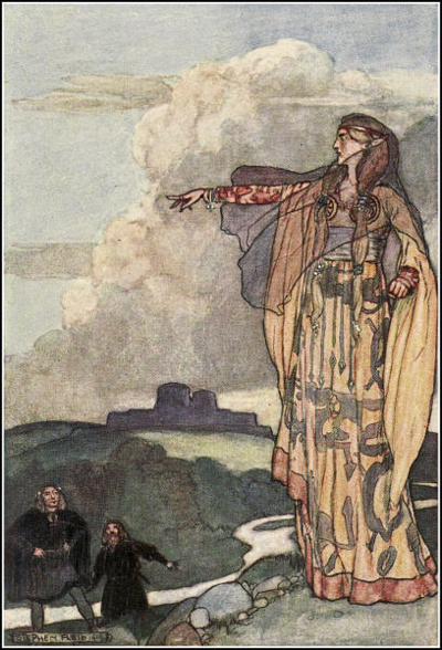 Macha Curses the Men of Ulster (Eleanor Hull, The Boys' Cuchulain, 1904)