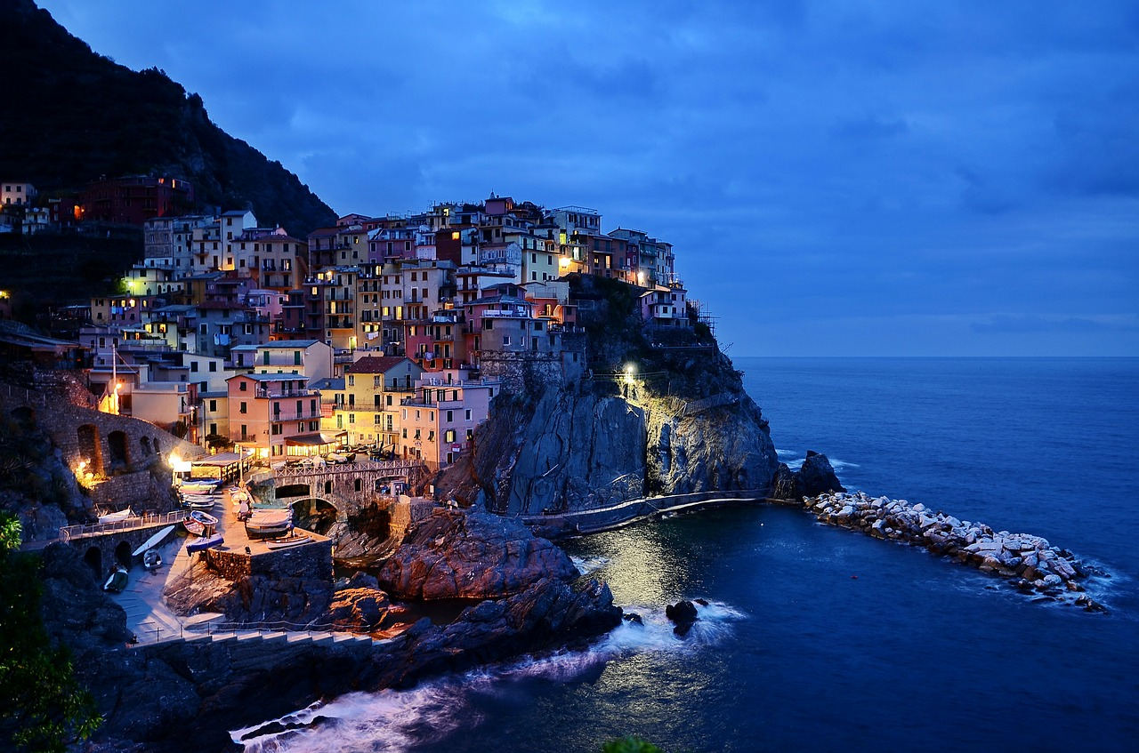 Cinque Terre at sunset Liguria Italy