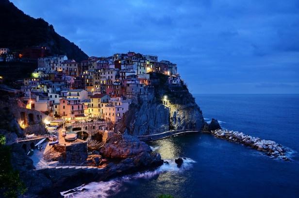 Cinque Terre at sunset Liguria Italy