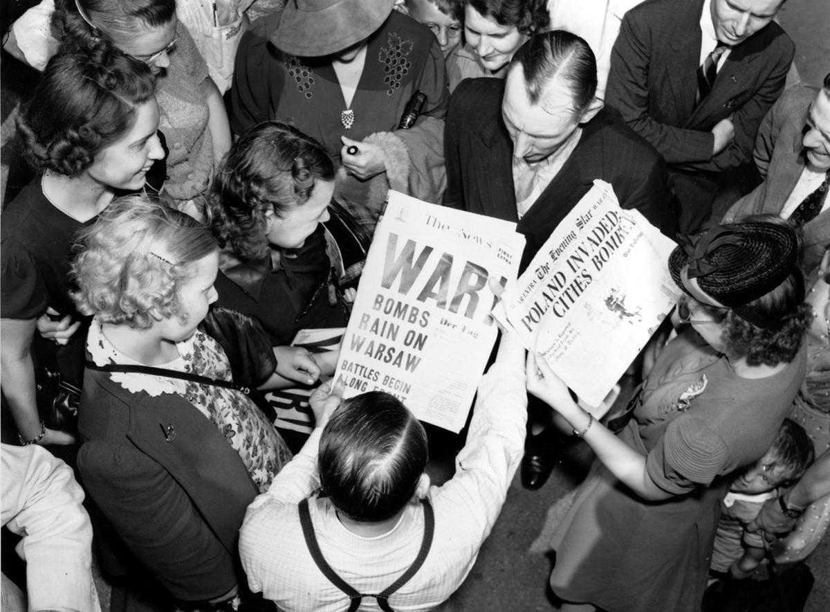 wwii ww2 war start newspapers