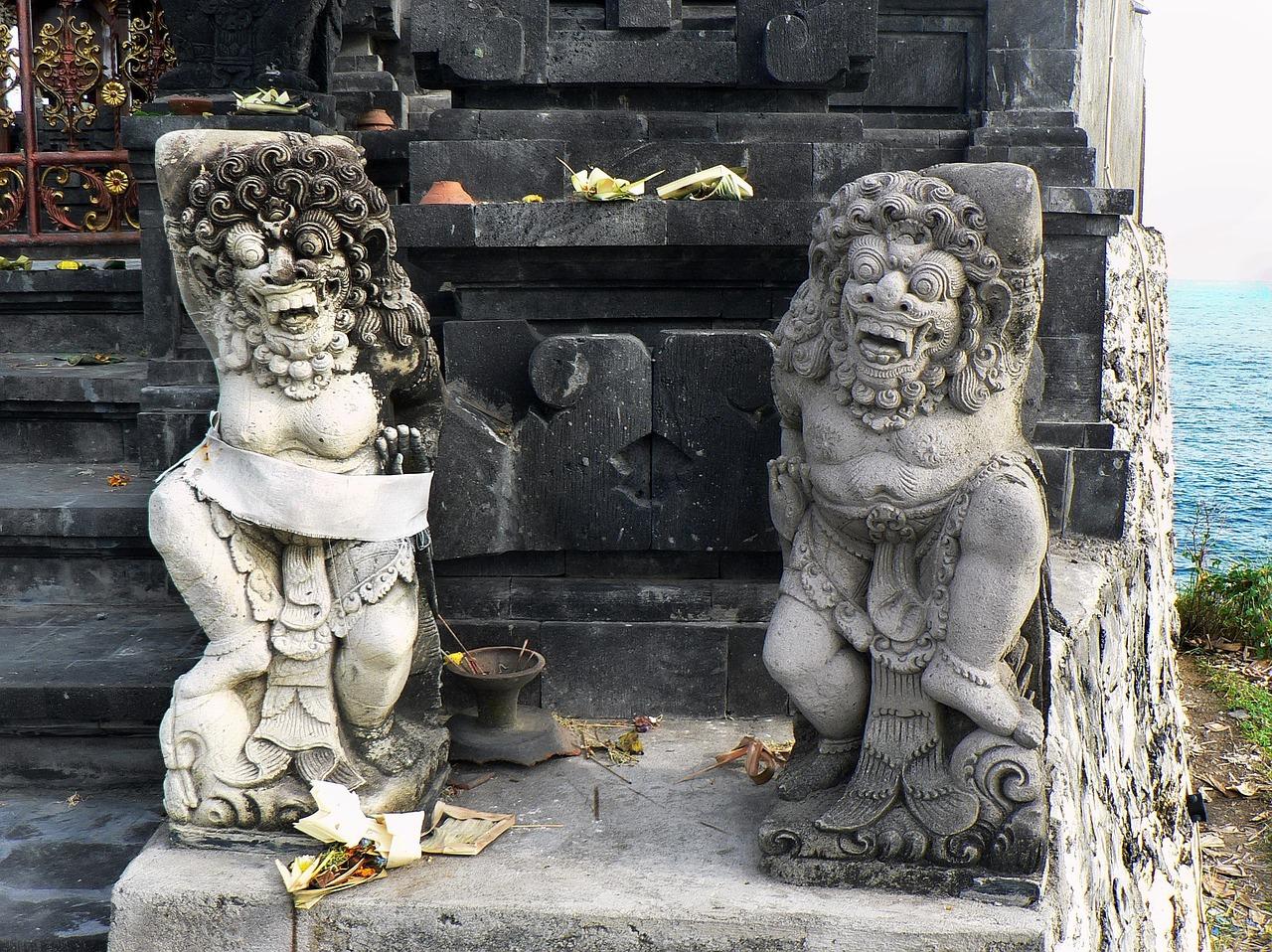 bali island indonesia temple statues gods mythology