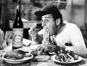 The great Italian comedic actor Alberto Sordi, who got his start in 1937 as the Italian voice of Oliver Hardy, was one of the Cinecittà stars.
