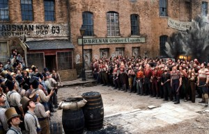 Martin Scorsese's 'Gangs of New York' (2002) with Leonardo di Caprio and Daniel Day-Lewis and Cameron Diaz
