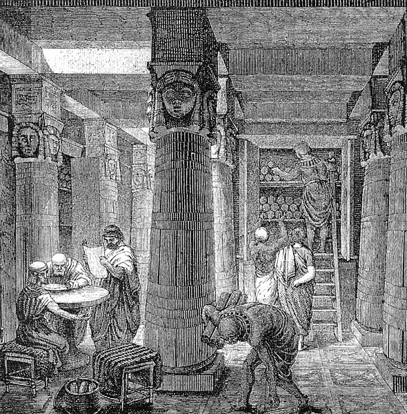 The Great Library of Alexandria in Alexandria, Egypt, was one of the largest and most significant libraries of the ancient world