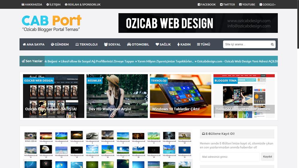 CABPort Blogger Portal Teması