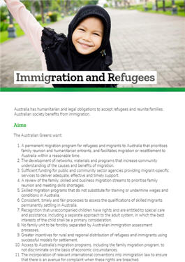 Greens citizenship policy
