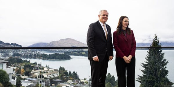 Ardern and Morrison in Queenstown May 2021