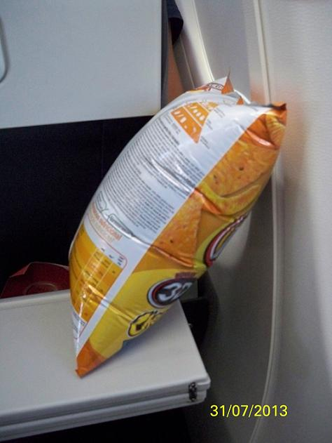 Uçakta patlasa