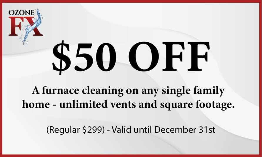 Furnace Cleaning Red Deer promo offer for December