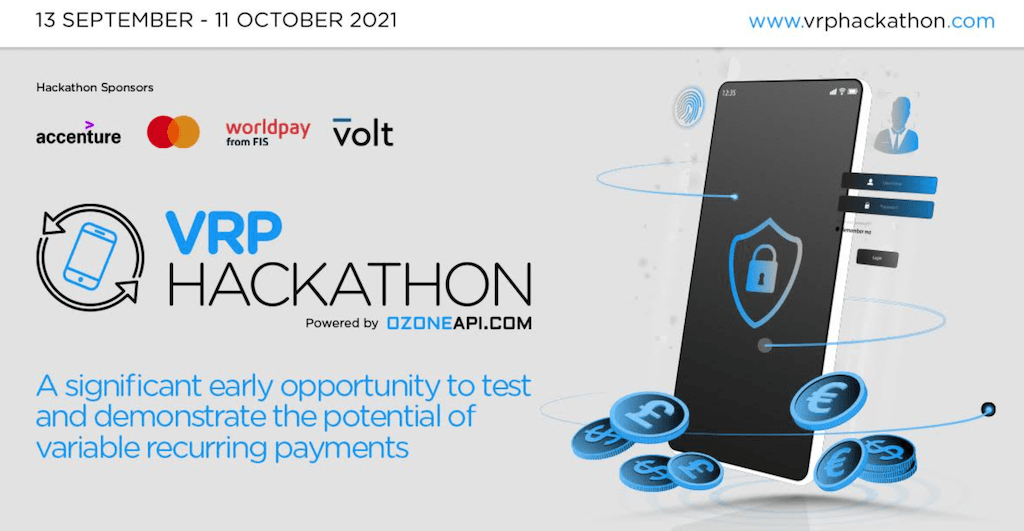 Ozone are proud to power the world's first Open Banking VRP Hackathon