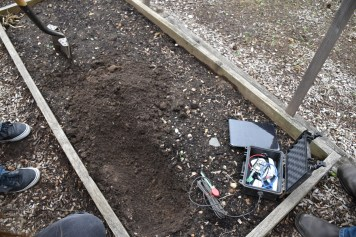 dug trench for sensor