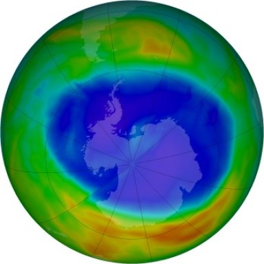 Antarctic ozone map for 2014-09-11