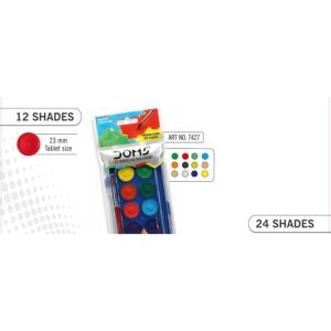 Doms 12 Shades Watercolour Cakes 23mm
