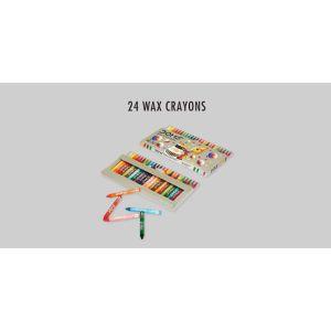 Doms 24 Shades Jumbo Wax Crayons