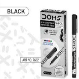 Doms Black CD-DVD/OHP Marker Pen