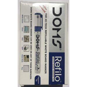 Doms Blue Refilo White Board Marker