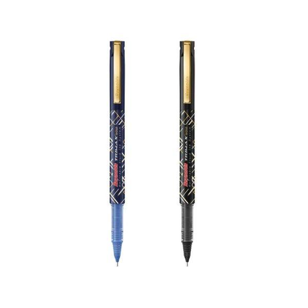 Reynolds Trimax Gold Black Roller Pen