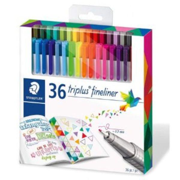 Staedtler Johanna Basford Triplus Fineliner Pens - Pack of 36