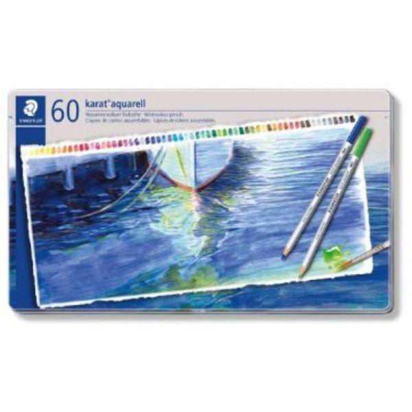 Staedtler Karat Aquarell Premium Watercolor Pencils, Set of 60
