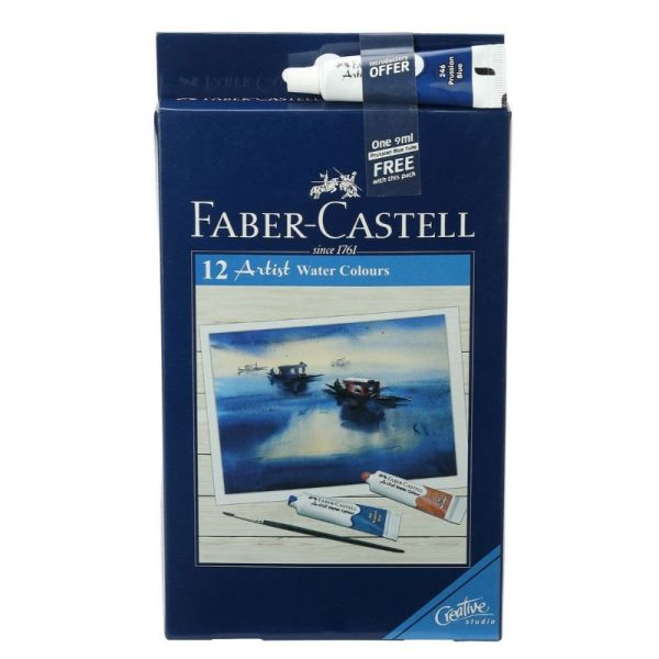 Faber Castell 12 Shade Student Water Colour Tube