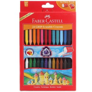 Faber Castell Grip Erasable Crayons (24 Shades)