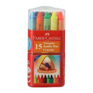 Faber Castell Jumbo Wax Crayons (12 Shades)
