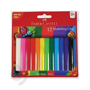 faber castell Modelling Clay 150 G With Toys (12 Colours)
