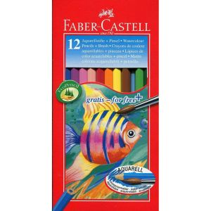 Faber Castell Water Colour Pencil Full Length (12 Shade)