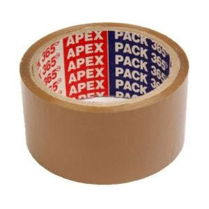 Apex 3 inch Brown Tape 65 mtr