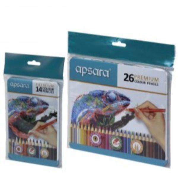Apsara 14 Premium Color Pencils (TIN)