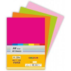 Lotus A4 Pastel Mix Colour Plain