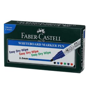 Faber Castell White Board Blue Marker (Set of 10)