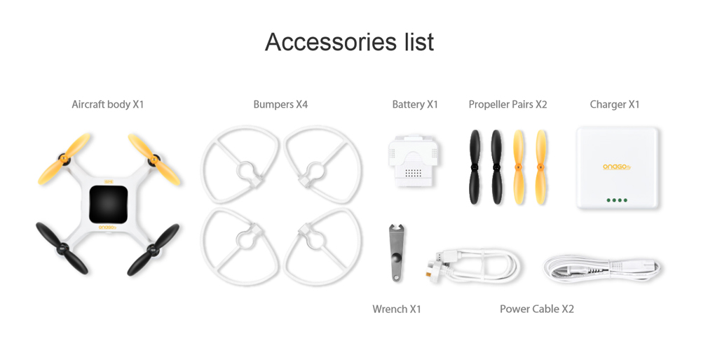 Selfie Drone with GPS and 13M Selfie Camera white