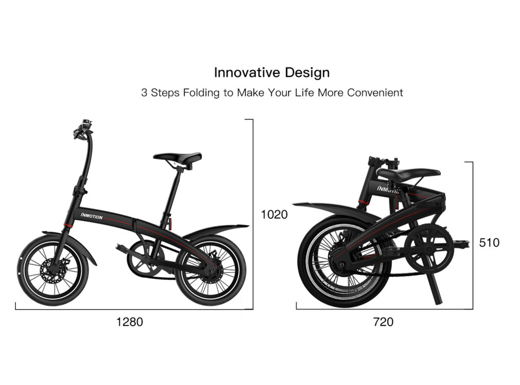 INMOTION P3 Folding Mini Electric Scooter Bike with