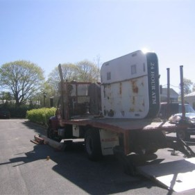 Kiosk Loaded for Removal and Disposal