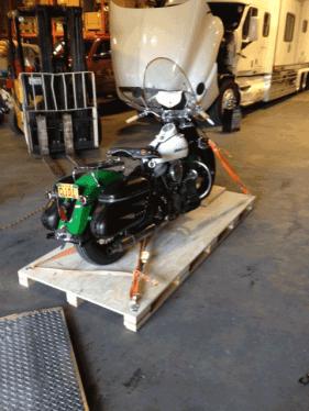 Preparing bike for shipping