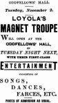 Loyola's Magnet Troupe [Western Star 30 Oct. 1886, 3]