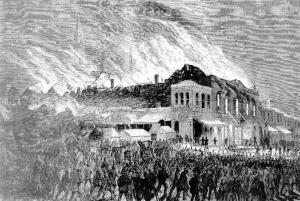 Haymarket-Duke of E on fire - Melb [IAN 9 Oct 1871, 185]