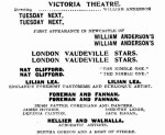 Willliam Anderson's London Vaudeville Stars [NMH 30 Apr 1910, 8]
