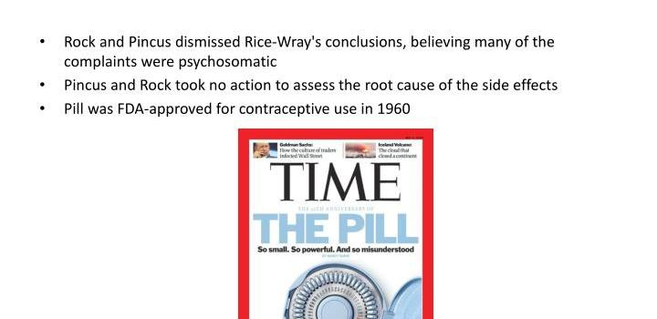 The First Birth Control Pill