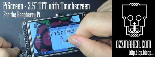 PiScreen TFT Raspberry Pi