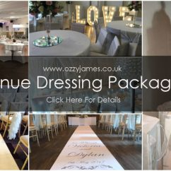 Chair Cover Hire Merseyside Buffalo Leather In Liverpool Ozzy James Parties Events Venue Dressing Package