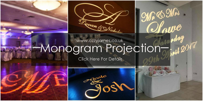 Wedding Name Projection Wedding Monogram  Ozzy James Parties  Event
