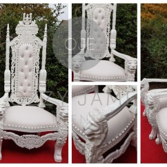Chair Cover Hire Manchester Uk Diy Indoor Hanging Hammock White Wedding Throne Chairs For Ozzy James Events Liverpool Cheshire Northwest